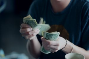 person checking income